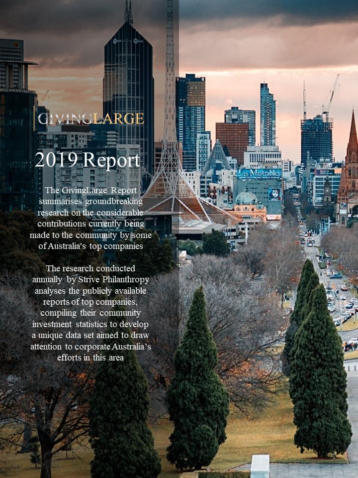 GivingLarge 2019 Media Release, Corporate Philanthropy